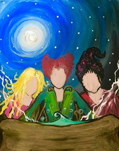 Items similar to Hocus inspired pocus Halloween painting on Etsy Halloween Canvas Paintings, Fall Canvas Painting, Canvas Painting Projects, Witch Painting, Cute Canvas Paintings, Halloween Painting, Autumn Painting, Diy Painting, Halloween Crafts