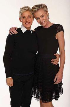 TV personality Ellen DeGeneres and actress Portia de Rossi