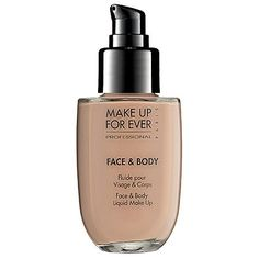 makeup forever foundation - If humidity is your number one face makeup foe, then Make Up For Ever Face & Body Liquid Makeup is the foundation for you. The light, gel texture evens skin tone with a smooth, natural finish. The formula is so long-lasting and Makeup Forever Foundation, Body Foundation, Makeup Foundation, Perfect Foundation, Best Waterproof Makeup, Waterproof Foundation, Real Techniques, Water Based Foundation, Best Concealer
