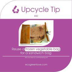 #Upcyling tip 42 #Reuse a frozen vegetables bag  - - - #zerowaste #hack #repurpose #upcycle