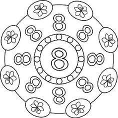 Malvorlagen Zahlen Mandala 8 Zahl Acht Mandala Ausmalen