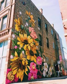 Street Art is a completely well-liked form of art that is spreading speedily every greater than the world. You can locate it on buildings, sidewalks, … Graffiti Murals, Murals Street Art, Street Art Graffiti, Graffiti Painting, Garden Mural, Garden Art, Flower Mural, Flower Art, Flower Graffiti