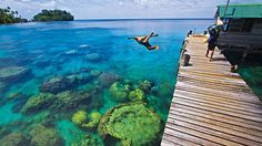 Dive into our crystal clear waters! The water in Papua New Guinea is 80 degrees all year round. It's also some of the clearest in the world, with visibility levels of between 70 and 100 feet. The miles of pristine reefs, relatively small numbers of divers, and a staggering abundance of sea life make the place a mecca for scuba fans.