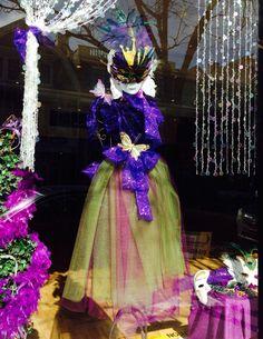 Mardi Gras theme window display