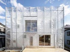 MoyaMoya, Wohnhaus, Tokyo, Fumihiko Sano, Higashikurume, Japan, Fassade, Stahlnetz, Sonnenschutz, Aussenansicht