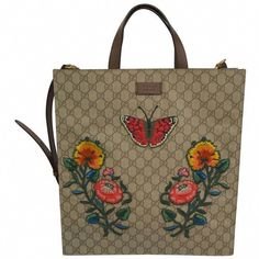 7b0cace400f Gucci Supreme Embroidered Butterfly Tote 2016 7