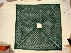 Cheryl Oberle's pattern Irish Diamond Shawl knit using Harrisville Designs' Shetland yarn.