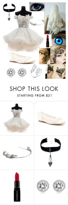 """""""OC Winter in Black Butler book of circus"""" by winternightfrostbite ❤ liked on Polyvore featuring Soludos, Oscar de la Renta, Child Of Wild, Smashbox and Michael Kors"""