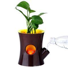 Pot de fleurs créatives. Écureuil auto arrosage pot de fleur pour le bureau ou la maison dans Pots à fleurs & jardinières de Maison & Jardin sur Aliexpress.com