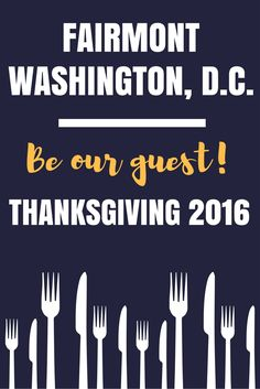 Deciding on where to spend Thanksgiving? The Fairmont Hotel has made it easy this year offering a scrumptious dinner with loads of options - dine in or get it prepared to go!