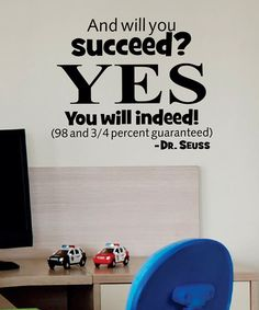 Take a look at this Black 'Succeed Indeed' Wall Decal by Wallquotes.com by Belvedere Designs on #zulily today!