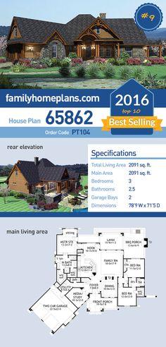 9 Of 2016 S Top Ten Best Ing House Plans Plan 65862 Has 2091