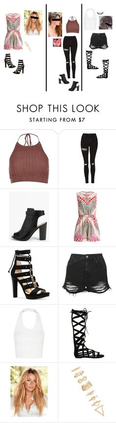 """""""Radio interview outfit 1"""" by shadow-butterfly26 ❤ liked on Polyvore featuring River Island, Topshop, Boohoo, Mara Hoffman, Michael Kors, Steve Madden, Forever 21 and Charlotte Russe"""