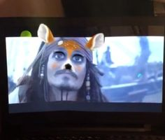 Captain Jack Sparrow in a Snapchat filter!