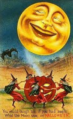 moon on halloween