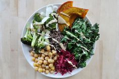 Baked Vegetable Macro Plate (vegan + gluten free) | The Colorful Kitchen