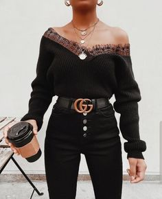 The Chic Fashionista — classy-lovely:. Cute Casual Outfits, Pretty Outfits, Stylish Outfits, Cute All Black Outfits, Winter Fashion Outfits, Look Fashion, Fall Outfits, Girl Fashion, Fashion Clothes