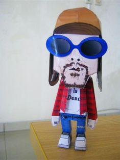 Kurt Cobain paper toy