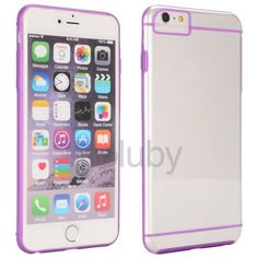 Slim Double Color Transparent PC+TPU Back Cover Case for iPhone 6 6S 4.7 inch (Purple)