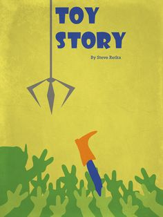 Toy Story ~ Minimal Movie Poster by Steve Retka Disney Movie Posters, Best Movie Posters, Minimal Movie Posters, Minimal Poster, Movie Poster Art, Poster S, Film Posters, Pixar Movies, Disney Movies