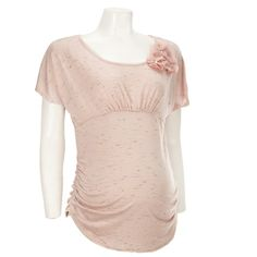 Maternity Ruched Top w/Flower
