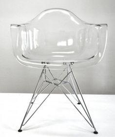 Polycarbonat Stuhl Retro Loft Chair Designer EIFFEL Inspired