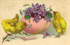 Vintage Easter Postcard, via Flickr.