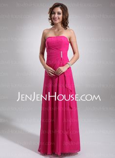 Bridesmaid Dresses - $98.49 - A-Line/Princess Sweetheart Floor-Length Chiffon Bridesmaid Dresses With Ruffle (007001085) http://jenjenhouse.com/A-line-Princess-Sweetheart-Floor-length-Chiffon-Bridesmaid-Dresses-With-Ruffle-007001085-g1085