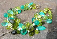 The Josephina: Multi-Colored Gemstone Bracelet with por TeeceTorre