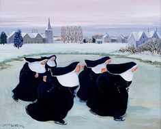 "Winter at the Convent by Margaret Loxton: Posted on The Vivienne Files ""I love this painting. if this doesn't make you smile, I can't help you. Catholic Art, Religious Art, Roman Catholic, Illustrations, Illustration Art, Persona Feliz, Nuns Habits, Kunst Online, The Vivienne"