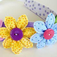 Flowers Leaf  Narrow Headband ePattern from SewBaby.com