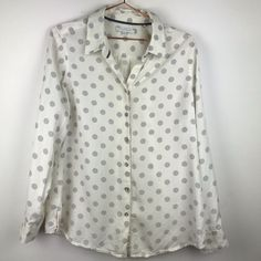 Foxcroft Tops | Foxcroft Polka Dot Button Up Roll Tab Blouse 4 | Poshmark Polka Dot Top, Size 14, Button Up Shirts, Ootd, Buttons, Blouse, Things To Sell, Style, Fashion