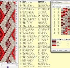 19 tarjetas, 4 colores, repite dibujo cada 14 movimientos // trenza1༺❁