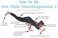 Pin now, practice this fun arm balance later! Wearing: lululemon bra, kira grace leggings c/o