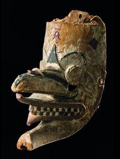 Dance mask, hudoq - Dayak, Borneo