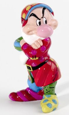 disney by romero britto mini grumpy figurine enesco new with box