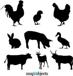 9 free vector farm animals