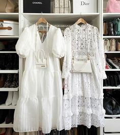 White Outfits, Simple Outfits, White Dress Summer, Summer Dresses, Long Dresses, Fashion Beauty, Fashion Looks, Lace Outfit, Tent Dress