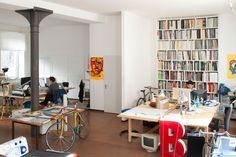 Creative Studio, Magazine, Hort, Berlin, and Shot image ideas & inspiration on Designspiration Graphic Designer Office, Graphic Designers, Berlin, Graphic Design Studios, Creative Studio, Home Office, Cool Designs, Interior, Table