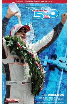Dan Wheldon memorialized on this year's Indianapolis 500 ticket.
