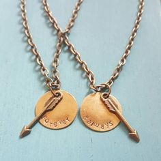 Forever and Always Matching Necklace Set with Arrow by megal0d0nn