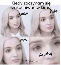 Bo miłości nie ma :) To tylko Wtf Funny, Funny Jokes, Hilarious, Polish Memes, Funny Mems, Just Smile, Reaction Pictures, Man Humor, Really Funny