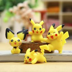 4pcs/lot Pikachu PVC Action Figure Pokemongo Pocket Monster Pikachu Mini Figures Toys Doll Collection Model Kids Toy Gift