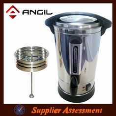20 cup coffee maker machine  *#201 stainless steel material  *Use as a kettle with lid  *With keep warm function  *Thermostat