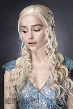 Emilia Clarke as Daenerys Targaryen for Game of Thrones.