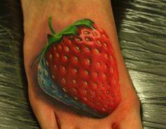 The Tattoo Review • Amazing Strawberry Tattoo - John Anderton