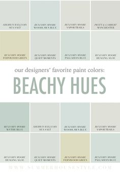One great way to really freshen up a room is with a new coat of paint! With summer just around the corner weve had the colors of the beach on our minds these days So we had our designers pick their favorite beach-inspired hues to share with you! Here are their picks! Do you have a be...