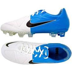 http://www.asneakers4u.com Nike CTR360 Maestri II Elite FG Firm Ground White Black Blue Football Cleats