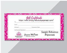 Paparazzi gift certificate gift certificates certificate and gift gift card yelopaper Images