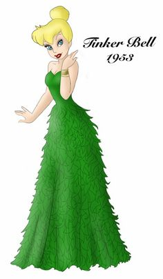 Tinker Bell designer gown by ruletheworldwithsong